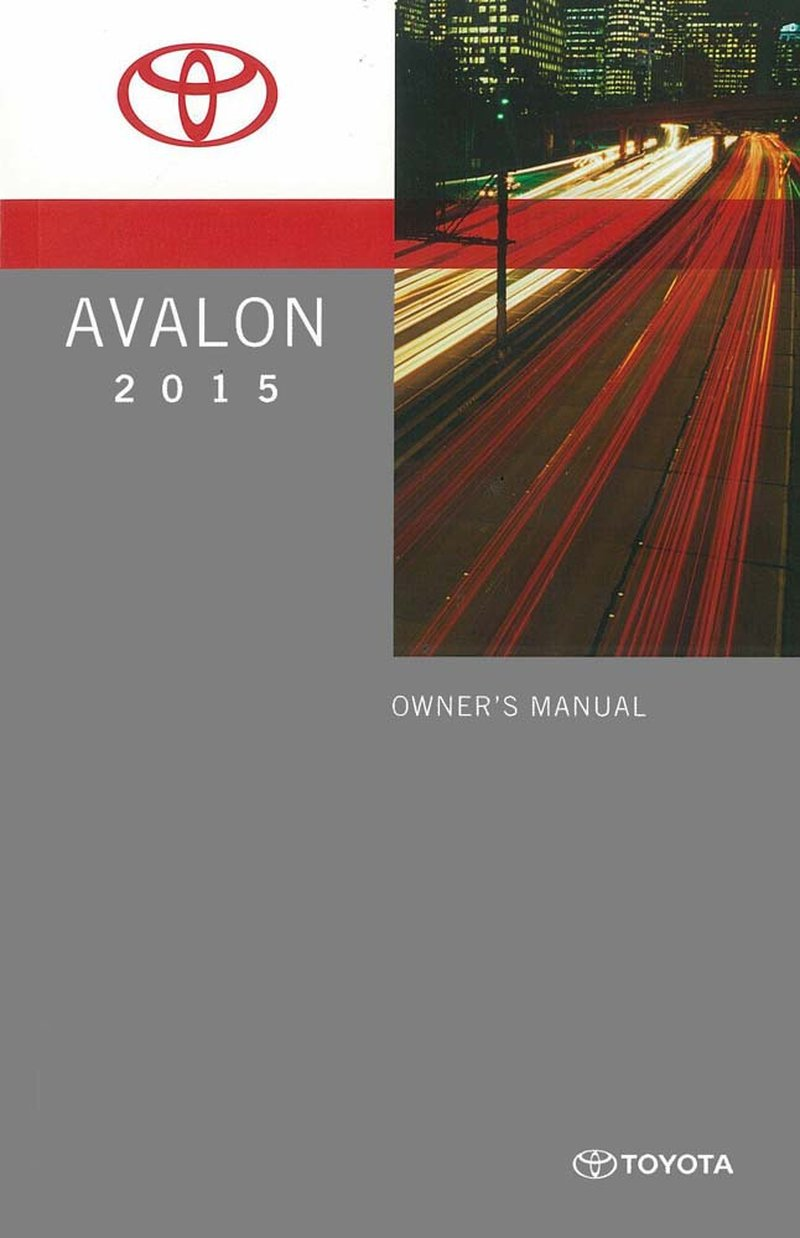 2015 toyota avalon owners manual