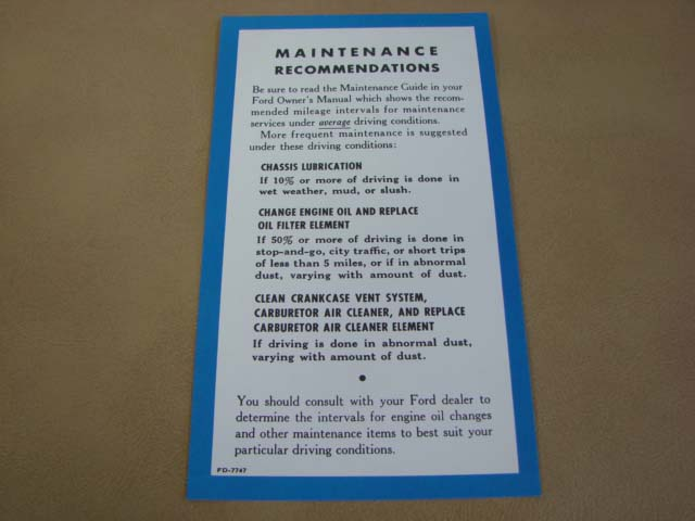 1957 ford thunderbird owners manual pdf