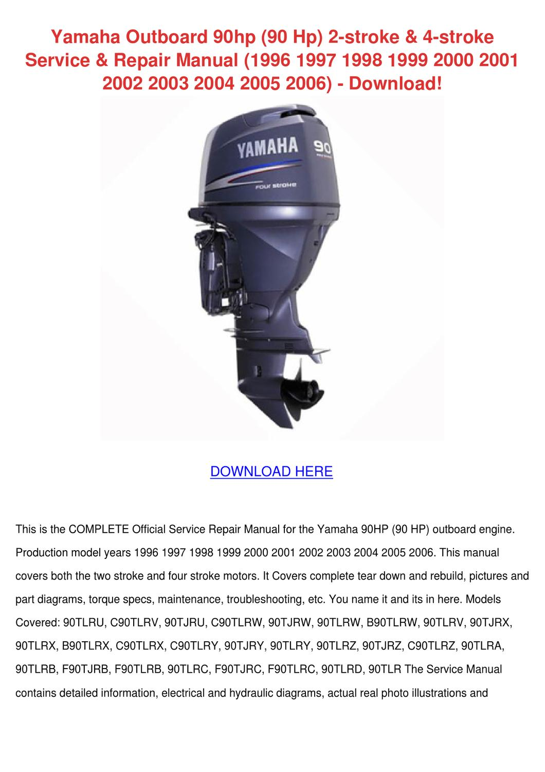 owners manual for mercury 90hp 4 stroke