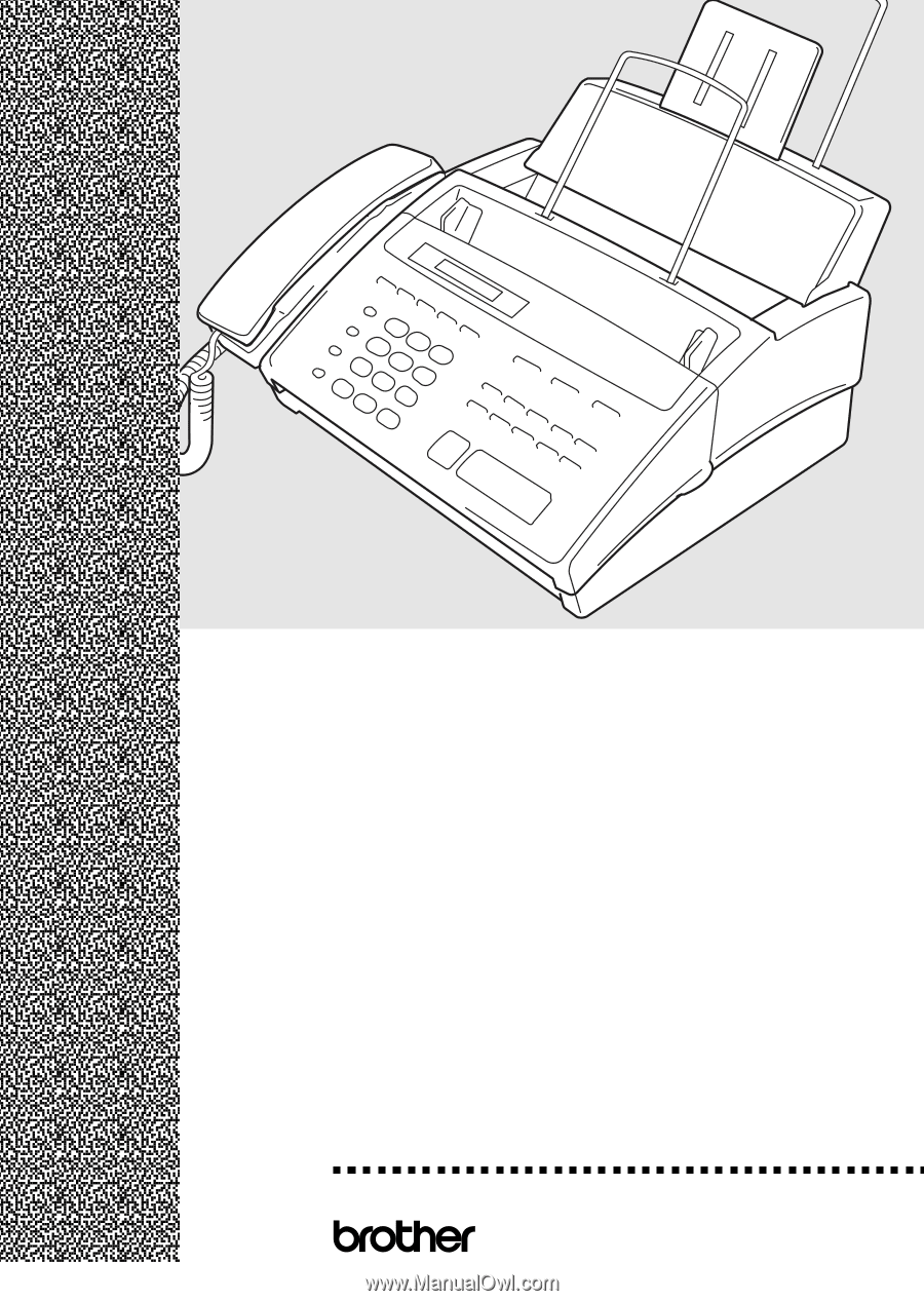 brother intellifax 770 user manual