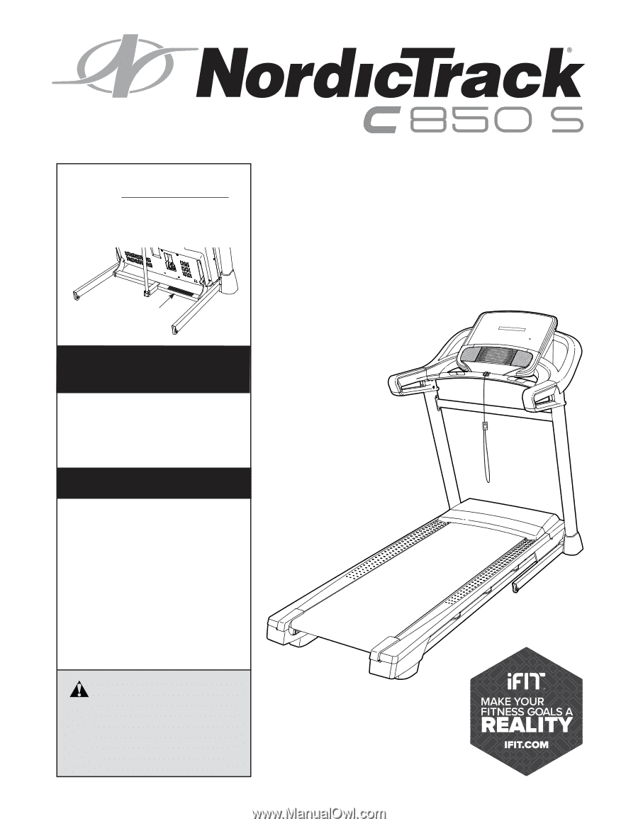 freemotion 850 treadmill owners manual