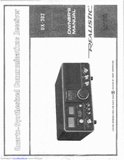 realistic dx 390 user manual