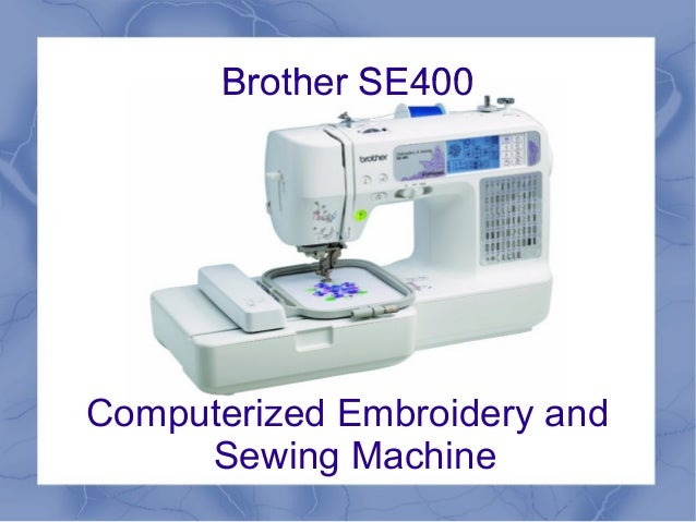 brother se 400 user manual