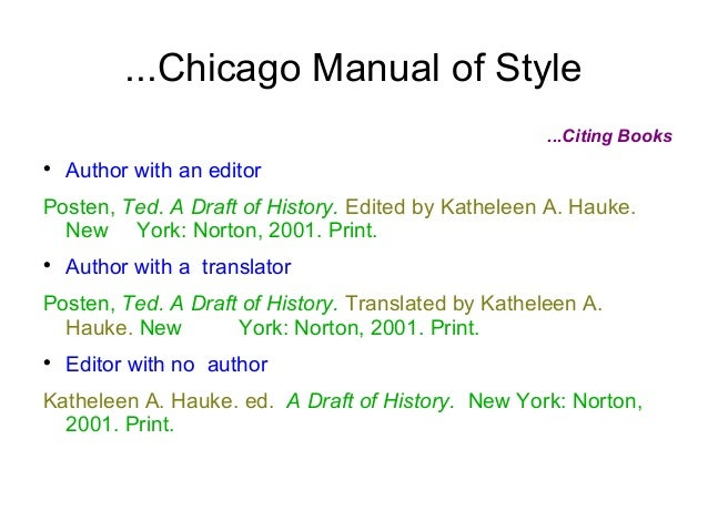 chicago manual of style 2 volumes