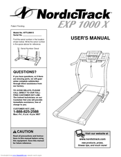 nordictrack exp 1000 treadmill owners manual