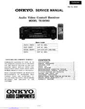 onkyo tx sv545 owners manual